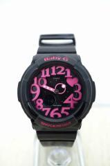 Baby-G (ベビージー) アナログ腕時計 表記無 ブラック × ピンク レディース【バズストア 古着】【中古】