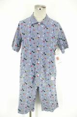 Mister.PAUL&JOE.(ミスターポールアンドジョー) パジャマシャツセットアップ M ホワイト × ブラック × レッド × イエロー × ブルー