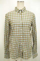 MACPHEE(マカフィー) ローンチェックワイヤーシャツ 38 ホワイト × イエロー × ブルー レディース【バズストア 古着】【中古】