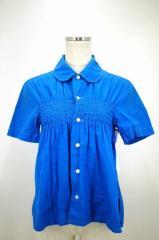 tricot COMME des GARCONS(トリココムデギャルソン) AD2007 ラウンドカラーボタンシャツ M ブルー レディース【バズストア 古着】【中古