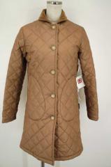 Traditional Weatherwear(トラディショナルウェザーウェア) キルティングロングコート 32 ベージュ レディース【バズストア 古着】【中古