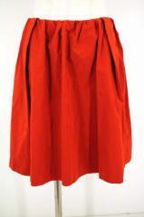 MACPHEE(マカフィー) ナイロンフレアスカート 38 オレンジ レディース【バズストア 古着】【中古】