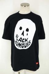 BEAMS T(ビームスティー) BLACK HUMOURS プリントTシャツ XL ブラック メンズ【バズストア 古着】【中古】