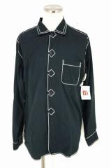 Yohji Yamamoto POUR HOMME(ヨウジヤマモトプールオム) ステッチデザイン ボタンシャツ 3 ブラック メンズ【バズストア 古着】【中古】