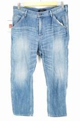 Johnbull(ジョンブル) スリークォーターワークパンツ AP217 L ブルー レディース【バズストア 古着】【中古】