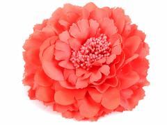 撮影用プラスチック製 大きめの花 可愛いヘアピン#スイカレッド【新品/送料込み】