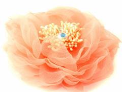 飾り物 造花 カジュアル 結婚式 演奏会 ウェディング 男女兼用 ピン付き 胸花 コサージュ #サモンピンク 送料込
