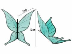 エレガント 蝶々造形 髪飾/グラデーショングリーン/コスプレにも送料込