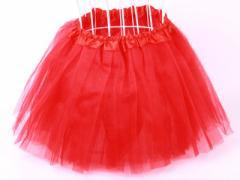 子ども ガーゼスカート プリンス風無地ドレス/赤色