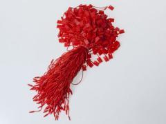 お洋服 ファッション 糸吊紐 コード 表示タグ 吊札など用 一束約300本入#レッド