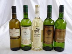 セレクションセレクト 白ワイン 5本セット ( フランスワイン 4本 イタリアワイン 1本)計750ml×5本