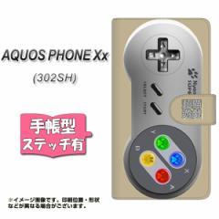 SoftBank AQUOS PHONE Xx 302SH 手帳型 スマホケース ステッチタイプ YK808 コントローラ1 メール便送料無料