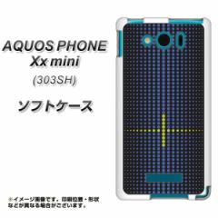SoftBank AQUOS PHONE Xx mini 303SH TPU ソフトケース / やわらかカバー【IB907 グラデーションドット 素材ホワイト】 UV印刷 (アクオ