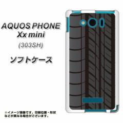 SoftBank AQUOS PHONE Xx mini 303SH TPU ソフトケース / やわらかカバー【IB931 タイヤ 素材ホワイト】 UV印刷 (アクオスフォンXx mini