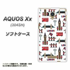 AQUOS Xx 304SH TPU ソフトケース / やわらかカバー【EK811 ロンドンの街 素材ホワイト】 UV印刷 (アクオス ダブルエックス/304SH用)
