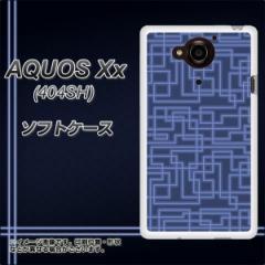 SoftBank AQUOS Xx 404SH TPU ソフトケース / やわらかカバー【569 ブルーライン 素材ホワイト】 UV印刷 (アクオス ダブルエックス 404S