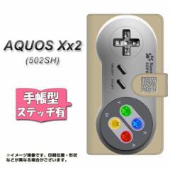 softbank AQUOS Xx2 502SH 手帳型 スマホケース ステッチタイプ YK808 コントローラ1 メール便送料無料