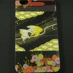 iPhone4s/iPhone4 対応 スワロフスキー デコケース【174 天の川の金魚】