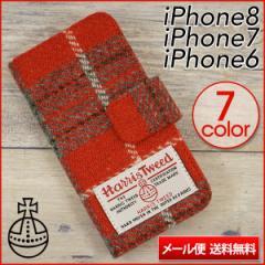 iPhone8 iPhone7 ケース iPhone6s ケース iPhone6s PLUS スマホケース 手帳型 ハリスツイード Harris Tweed Bタイプ メール便送料無料