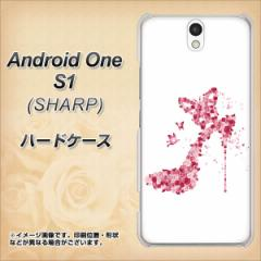 ワイモバイル Android One S1 ハードケース / カバー【387 薔薇のハイヒール 素材クリア】(アンドロイドワン エスワン/ANDONES1用)