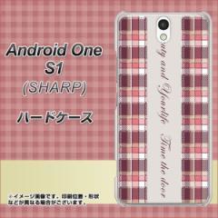 ワイモバイル Android One S1 ハードケース / カバー【518 チェック柄besuty 素材クリア】(アンドロイドワン エスワン/ANDONES1用)