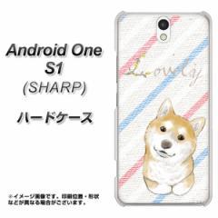 ワイモバイル Android One S1 ハードケース / カバー【YJ022 柴犬 ストライプ 素材クリア】(アンドロイドワン エスワン/ANDONES1用)