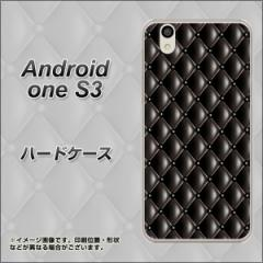 Y!mobile Android one S3 ハードケース / カバー【633 キルトブラック 素材クリア】(Y!mobile アンドロイドワン S3/ANDONES3用)