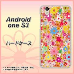 Y!mobile Android one S3 ハードケース / カバー【746 花畑A 素材クリア】(Y!mobile アンドロイドワン S3/ANDONES3用)