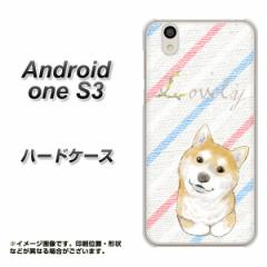 Y!mobile Android one S3 ハードケース / カバー【YJ022 柴犬 ストライプ 素材クリア】(Y!mobile アンドロイドワン S3/ANDONES3用)