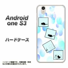 Y!mobile Android one S3 ハードケース / カバー【YJ199 ネコまんが かわいい 素材クリア】(Y!mobile アンドロイドワン S3/ANDONES3用)