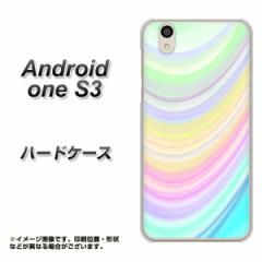 Y!mobile Android one S3 ハードケース / カバー【YJ312 カラー レインボー 素材クリア】(Y!mobile アンドロイドワン S3/ANDONES3用)