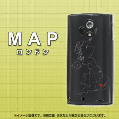 docomo ARROWS X LTE F-05D『684 MAP ロンドン(クリアケース』 UV印刷