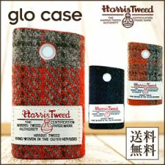 グロー glo グローケース レディース 可愛い ブランド ハリスツイード HarrisTweed 全貼り ハードケース 全3柄 メンズ メール便送料無料