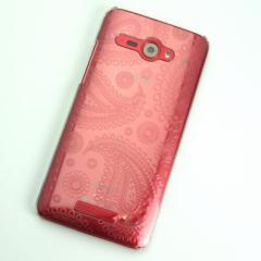 HTC J butterfly HTL21 ケース 凸凹 スマホケース【421 ペイズリー (クリア)】(HTC J/HTL21/htl21)