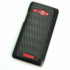 HTC J butterfly HTL21 ケース 凸凹 スマホケース【489 矢がすり (ブラック)】(HTC J/HTL21/htl21)