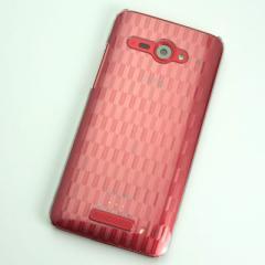 HTC J butterfly HTL21 ケース 凸凹 スマホケース【489 矢がすり (クリア)】(HTC J/HTL21/htl21)