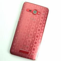 HTC J butterfly HTL21 ケース 凸凹 スマホケース【493 角千鳥  (クリア)】(HTC J/HTL21/htl21)