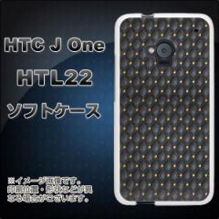 au HTC J One HTL22 TPU ソフトケース / やわらかカバー【1317 デザイン画 ブラックレザー 素材ホワイト】 UV印刷 (HTC J One/HTL22用)