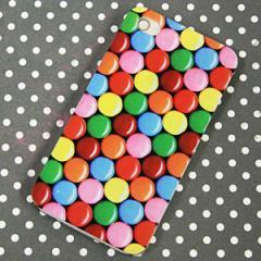 iPhone4sケース/iPhone4ケース 特殊印刷 スマホケース【448 マーブルチョコ(クリアベース)】 UV印刷