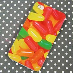 iPhone4sケース/iPhone4ケース 特殊印刷 スマホケース【449 ジェリービーンズ(クリアベース)】 UV印刷