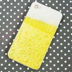 iPhone4sケース/iPhone4ケース 特殊印刷 スマホケース【450 生ビール(クリアベース)】 UV印刷