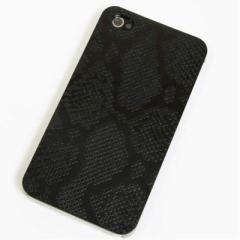 iPhone4s / iPhone4 共用 ケース 凸凹 スマホケース【049 ヘビ柄(ブラック)】(アイフォン/iPhone4s/iPhone4)