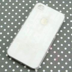 iPhone4s / iPhone4 共用 ケース 凸凹 スマホケース【361 クロスのシャンデリア(クリア)】(アイフォン/iPhone4s/iPhone4)