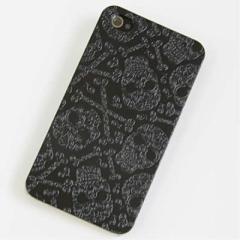 iPhone4s / iPhone4 共用 ケース 凸凹 スマホケース【363 ドクロの刺青(ブラック)】(アイフォン/iPhone4s/iPhone4)