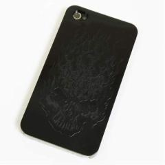 iPhone4s / iPhone4 共用 ケース 凸凹 スマホケース 【364 ドクロの怒り(ブラック)】(アイフォン/iPhone4s/iPhone4)