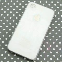 iPhone4s / iPhone4 共用 ケース 凸凹 スマホケース【368 ワンニャンカップル(クリア)】(アイフォン/iPhone4s/iPhone4)