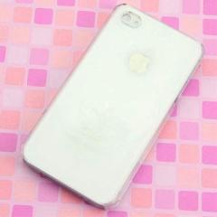 iPhone4s / iPhone4 共用 ケース 凸凹 スマホケース【393 三日月と少女(クリア)】(アイフォン/iPhone4s/iPhone4)