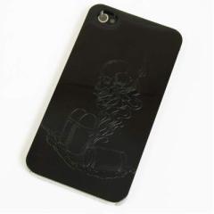 iPhone4s / iPhone4 共用 ケース 凸凹 スマホケース【481 弾丸(ブラック)】(アイフォン/iPhone4s/iPhone4)