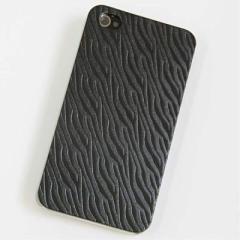 iPhone4s / iPhone4 共用 ケース 凸凹 スマホケース 【491 ゼブラ(ブラック)】(アイフォン/iPhone4s/iPhone4)