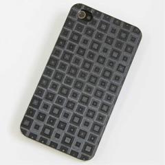iPhone4s / iPhone4 共用 ケース 凸凹 スマホケース【493 角千鳥(ブラック)】(アイフォン/iPhone4s/iPhone4)